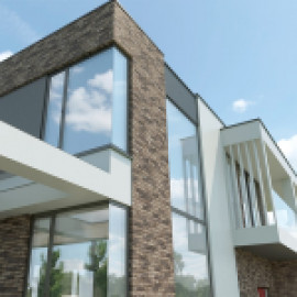 Проект дома в Шуко с контрастными фасадами