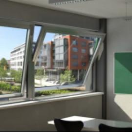 Уникальные окна Schuco с горизонтальной или вертикальной осью поворота створки