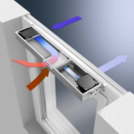 Энергоэффективная фасадная система вентиляции с функцией рекуперации Schüco VentoTerm