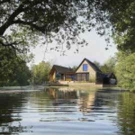 Чарующий дом у озера