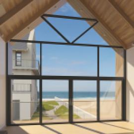 Стальные окна Schuco Jansen крупногабаритного формата