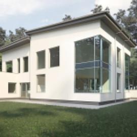Крупноформатные окна для коттеджей. Сталь Шуко Янсен
