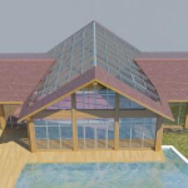 Проектирование стеклянных кровель для бассейнов