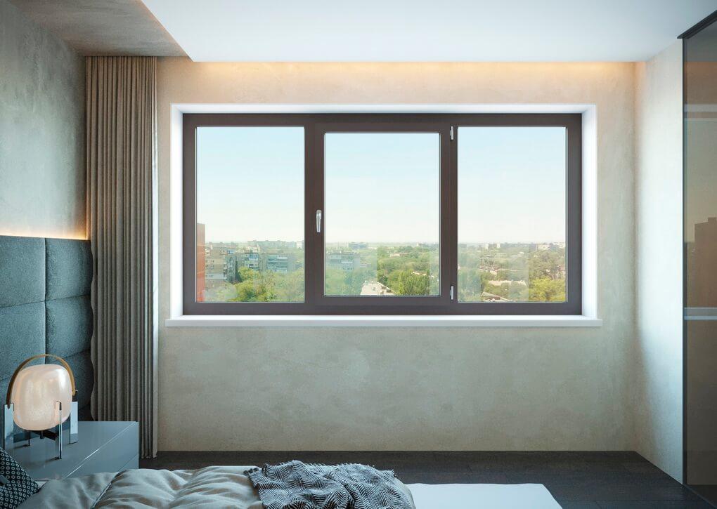 Цвет обработки ПВХ окна